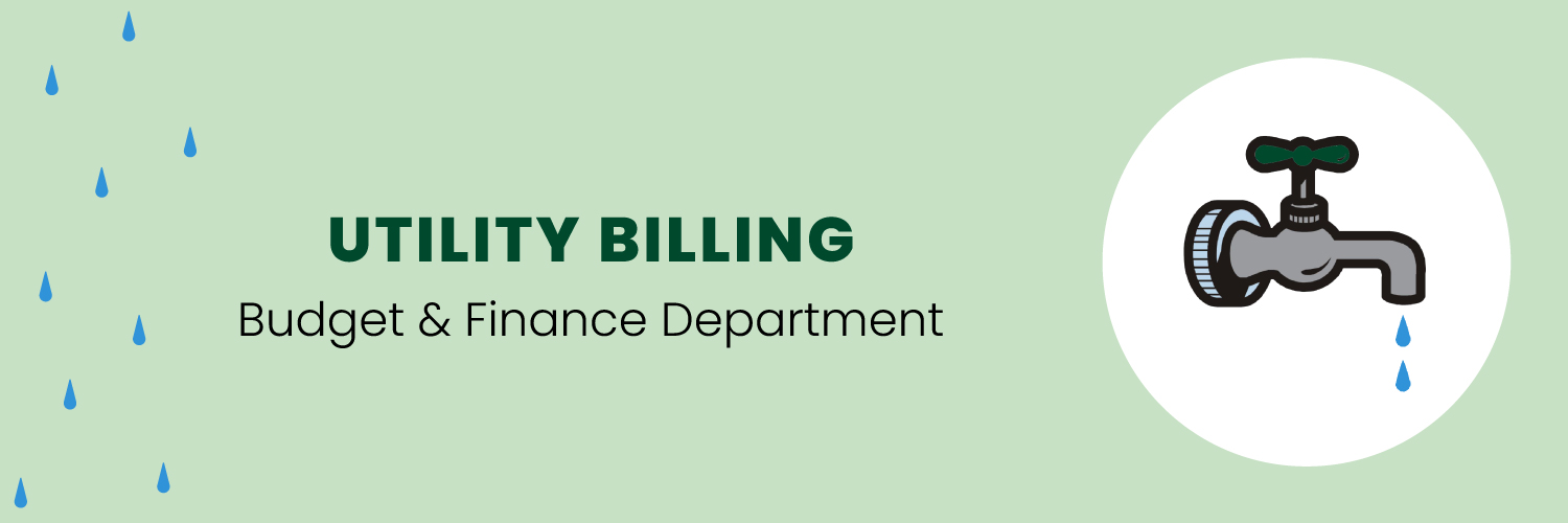 utility billing budget & finance heading